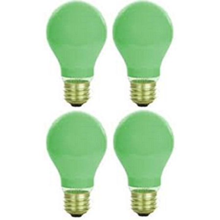Pack Of 4 40 Watt A19 Ceramic Green Medium Base Standered Household Incandescent Green Colored Light - Water Cooled Lights