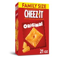 Cheez-It,Baked Snack Cheese Crackers, Original, Family Size, 21 Oz