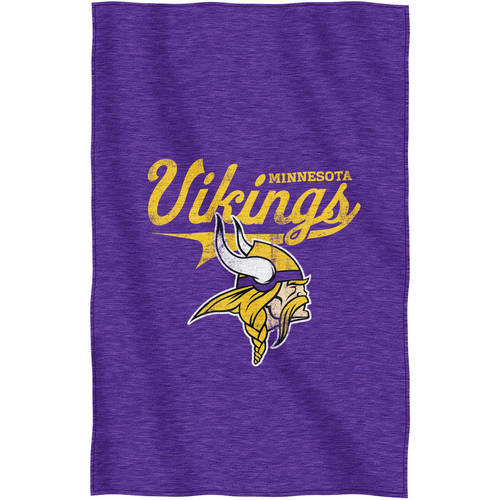 "NFL Minnesota Vikings ""Script"" 54"" x 84"" Sweatshirt Throw"