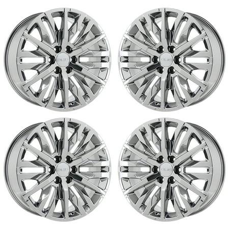GMC SIERRA 1500 2007 - 2020 PVD BRIGHT CHROME Factory OEM Wheels Rims ()