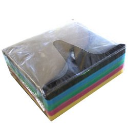 Double Sided Multi Color CD DVD Refill Sleeves (Black, Blue,Green, Pink and Yellow) Holds 2 Discs (100 pack)