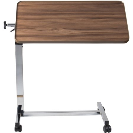 Split Top Overbed Table - DMI Heavy-Duty Tilt-Top Overbed Table, 34