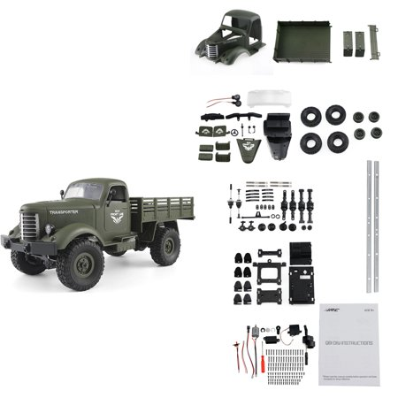 JJR/C Q61K 1/16 2.4G 4WD RC Off-road Military Truck Transporter-2 KIT without Transmitter Receiver
