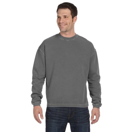 - 11 oz. Pigment-Dyed Ringspun Cotton Fleece Crew