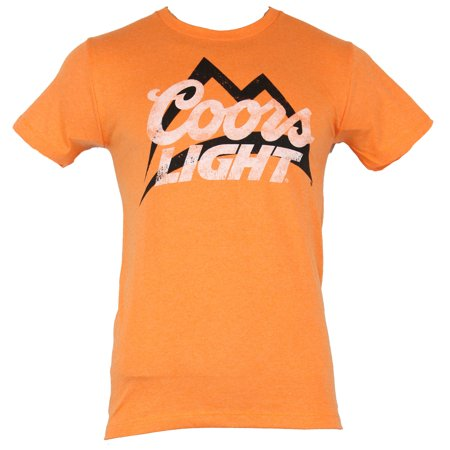 Coors Light Mens T-Shirt  - Distressed Simple White & Black Logo (Simple Logo Black And White)