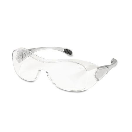 Crews, MCSCRWOG110AF, Anti-fog Safety Glasses, 1 Each, Clear Lens,Steel Frame,Black Sleeve,Silver Temple