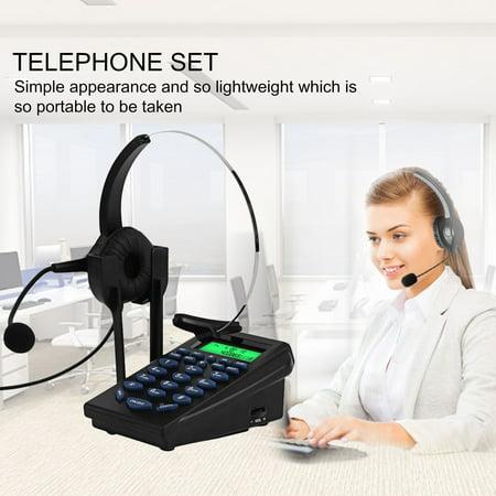 Call Center Dialpad Headset Telephone with Tone Dial Key Pad & REDIAL -  Walmart com