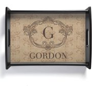Personalized Vintage Initial Serving Tray
