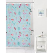 Mainstays Kids Mermaids Coordinating Fabric Shower Curtain Image 1 Of 6