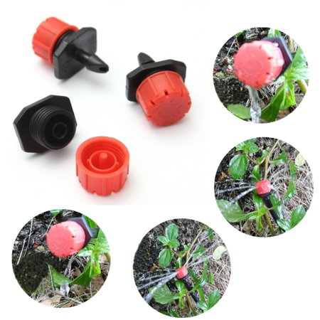 100pcs Adjustable Micro Drip Irrigation Water Emitter Drippers Sprinklers (Water Garden And Irrigation)