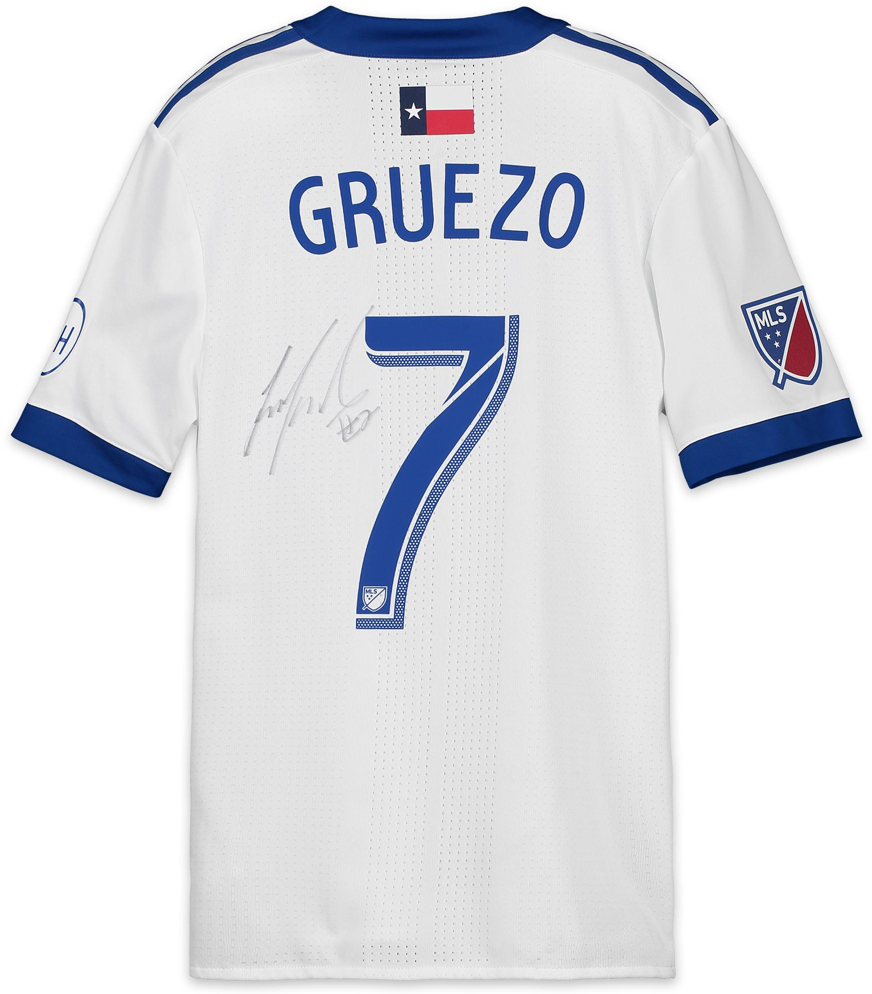 wholesale dealer edd78 94ae6 Carlos Gruezo FC Dallas Autographed Match-Used Blue and White #7 Jersey vs.  Toronto FC on May 25, 2018 - Fanatics Authentic Certified