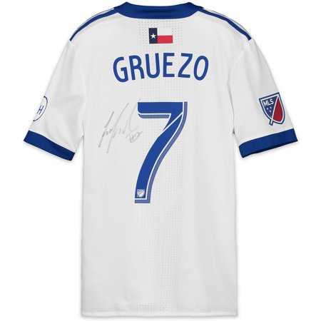 newest 04bf2 1332f Carlos Gruezo FC Dallas Autographed Match-Used Blue and White #7 Jersey vs.  Toronto FC on May 25, 2018 - Fanatics Authentic Certified - Walmart.com
