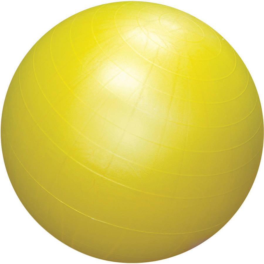 "CanDo 30"" Cushy-Air Inflatable Ball, Yellow"