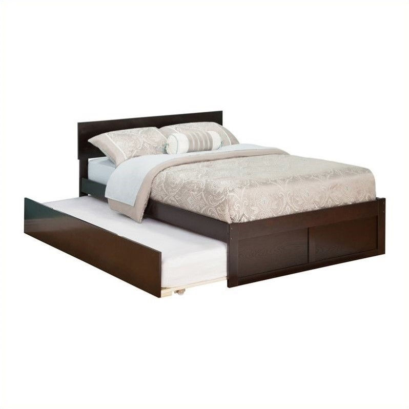 Atlantic Furniture Orlando Platform Bed and Trundle Set in Espresso