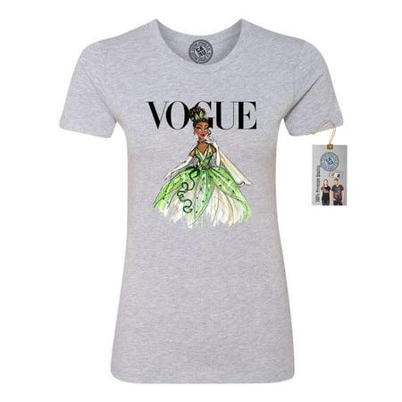 Vogue Princess Shirt Tiana Womens Short Sleeve Shirt - Adult Princess Tiana Costume