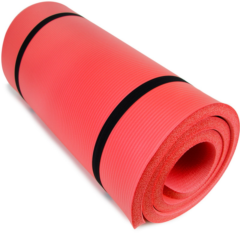 "Brybelly Ultra Thick 1"" Yoga Cloud, Red"