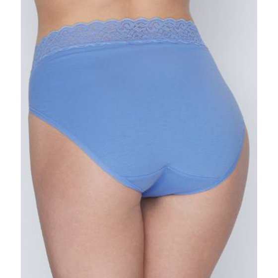 ff48e2713a8 Vanity Fair - Women s Vanity Fair 13395 Flattering Lace Cotton Stretch Hi-Cut  Brief Panty - Walmart.com