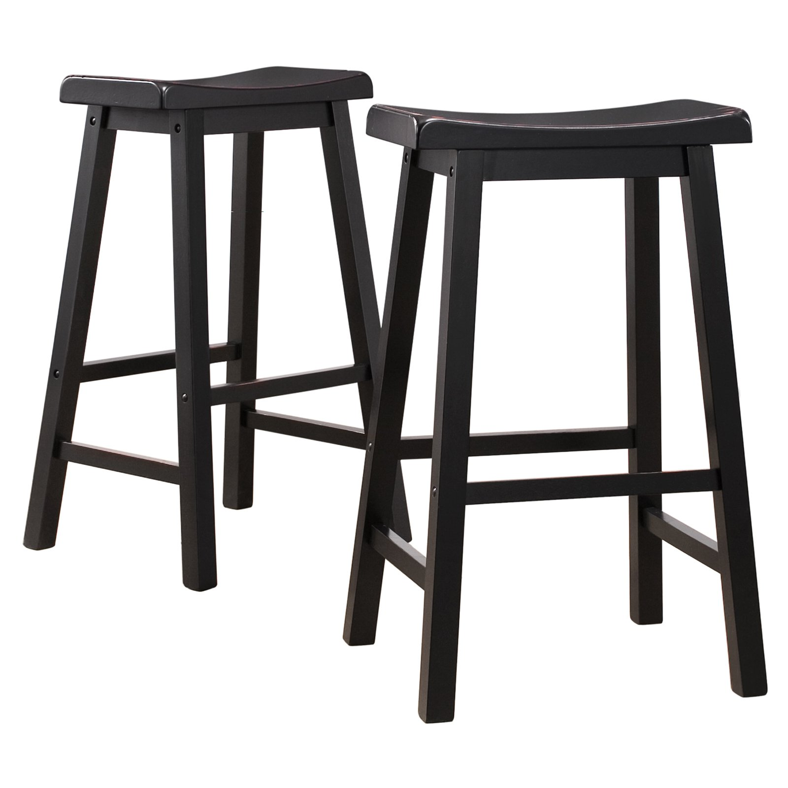 Prime Ashby Bar Stools 29 Set Of 2 Black Rubbed Walmart Com Gamerscity Chair Design For Home Gamerscityorg