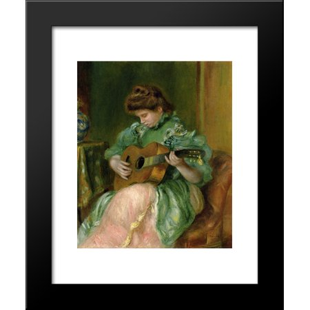 Woman with a Guitar 20x24 Framed Art Print by Renoir, Pierre Auguste