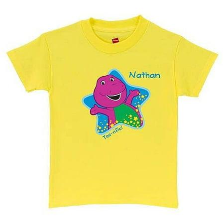 Personalized Barney Tee-riffic Kids' T-Shirt, Yellow