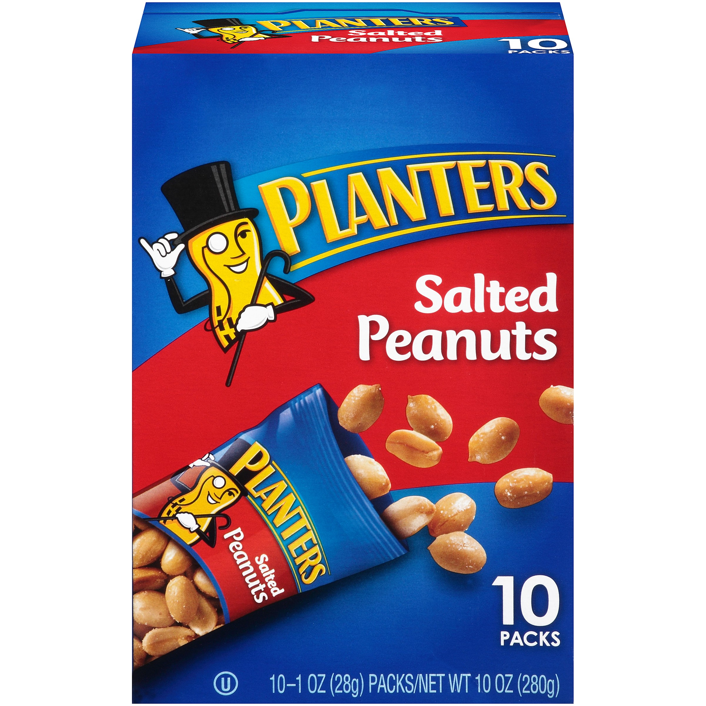 Planters Salted Peanuts 10-1 oz. Bags