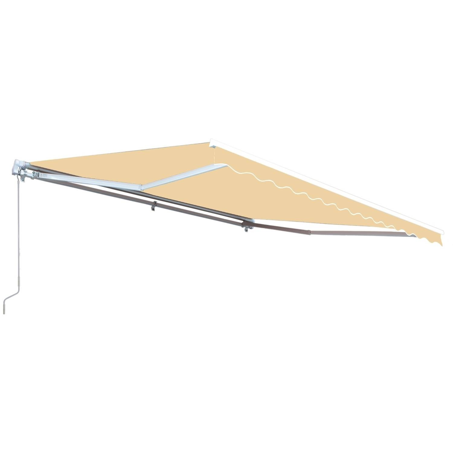 ALEKO 12' x 10' Retractable Patio Awning, Ivory Color