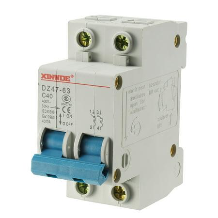 Circuit Breaker Padlock Attachment - 2 Poles 40A 400V Low-voltage Miniature Circuit Breaker DZ47-63 C40