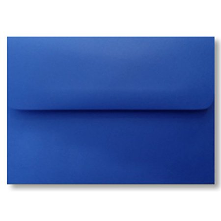 Shipped Free 100 Boxed Deep Royal Blue A6 (4-3/4 x 6-1/2) Envelopes for 4 x 6 Greeting Cards Invitations Photos Announcement Shower Communion Wedding By The Envelope Gallery (Card Boxes For Weddings)