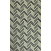 Mohawk Home Prismatic Thacker Cream Transitional Striped Precision Printed Area Rug, 5'x8', Cream & Black