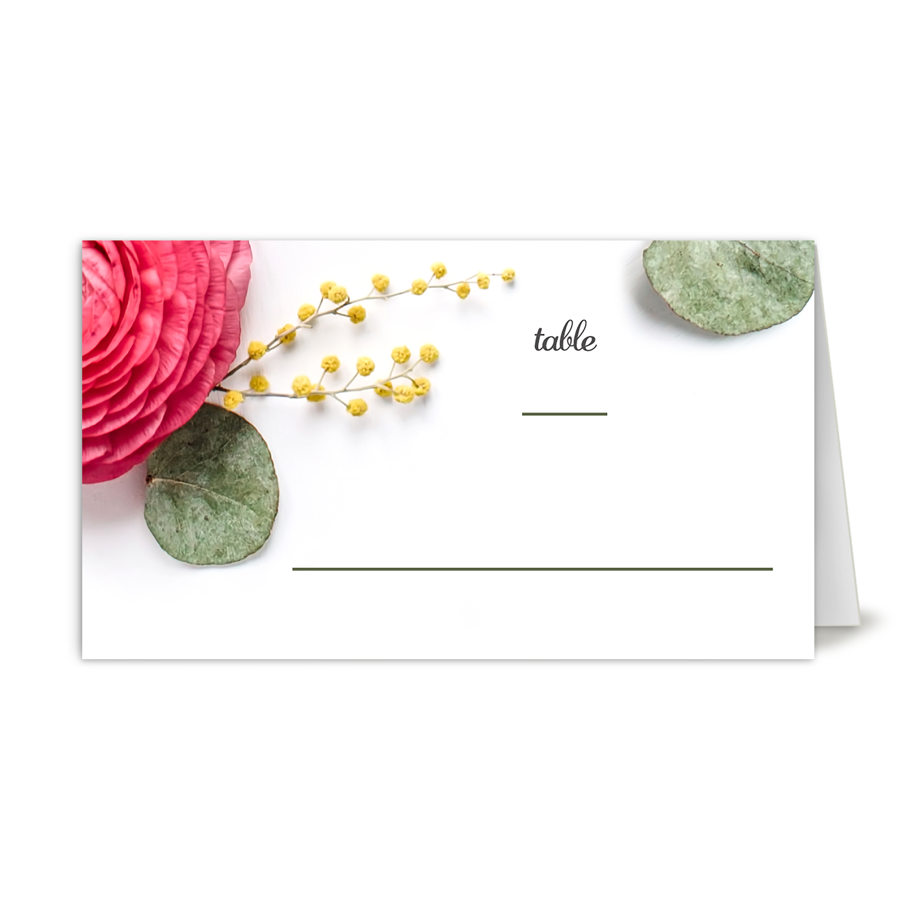 Personalized Wedding Place Card - Real Love - 3.5 x 2 Folded