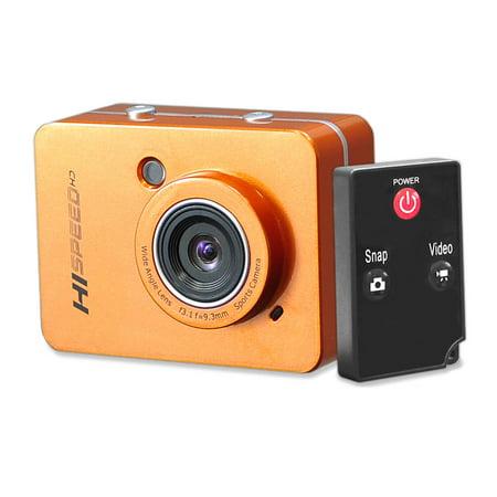 PYLE-SPORT PSCHD60OR - Hi-Speed HD 1080P Action Camera Hi-Res Digital Camera/Camcorder with Full HD Video, 12.0 Mega Pixel Camera & 2.4