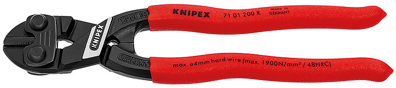 KNIPEX Tools 71 01 200 R CoBolt High Leverage Compact Fencing Bolt Cutters by KNIPEX Tools
