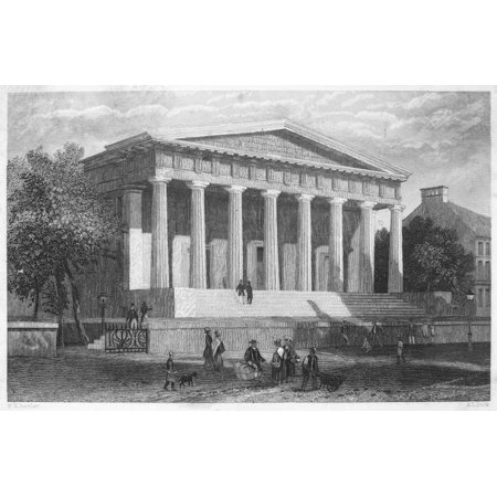 Custom House Philadelphia Nthe Second Bank Of The United States Later Called The Old Custom House Located On Lower Chestnut Street Philadelphia Pennsylvanica Designed By William Strickland And Built 1