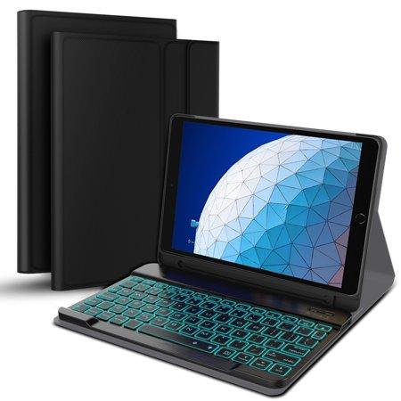 iPad Air 2019 3rd Gen/iPad 10.5 inch keyboard case, iPad 10.5 inch Ultra-Thin backlight Bluetooth Keyboard With pencil case, silent magnetic switch, automatic (Best Ipad Keyboard 2019)