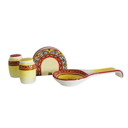 Euro Ceramica Inc. Euro Ceramica Galicia 4-piece Completer Set