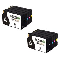 Linktoner Compatible 952XL Remanufacturered Ink Cartridges 952XL B/C/M/Y 4 Color Combo Multi-pack 2 Sets
