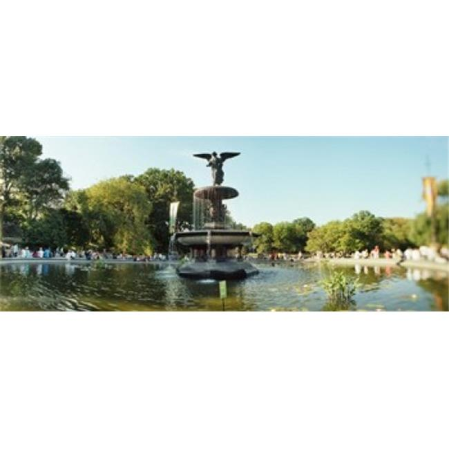 Central Park Manhattan: Panoramic Images PPI129723L Fountain In A Park Central