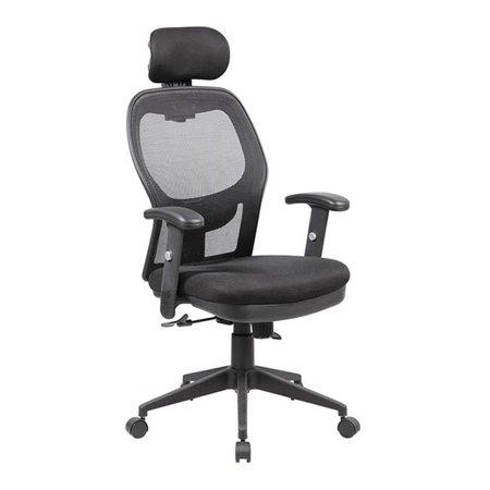 United Seating UOC-8018-BK Fully Adjustable Mesh Office Computer Chair with Adjustable Lumbar Support, Adjustable Armrests, Adjustable Headrest & Multi-position Recline Control, Black