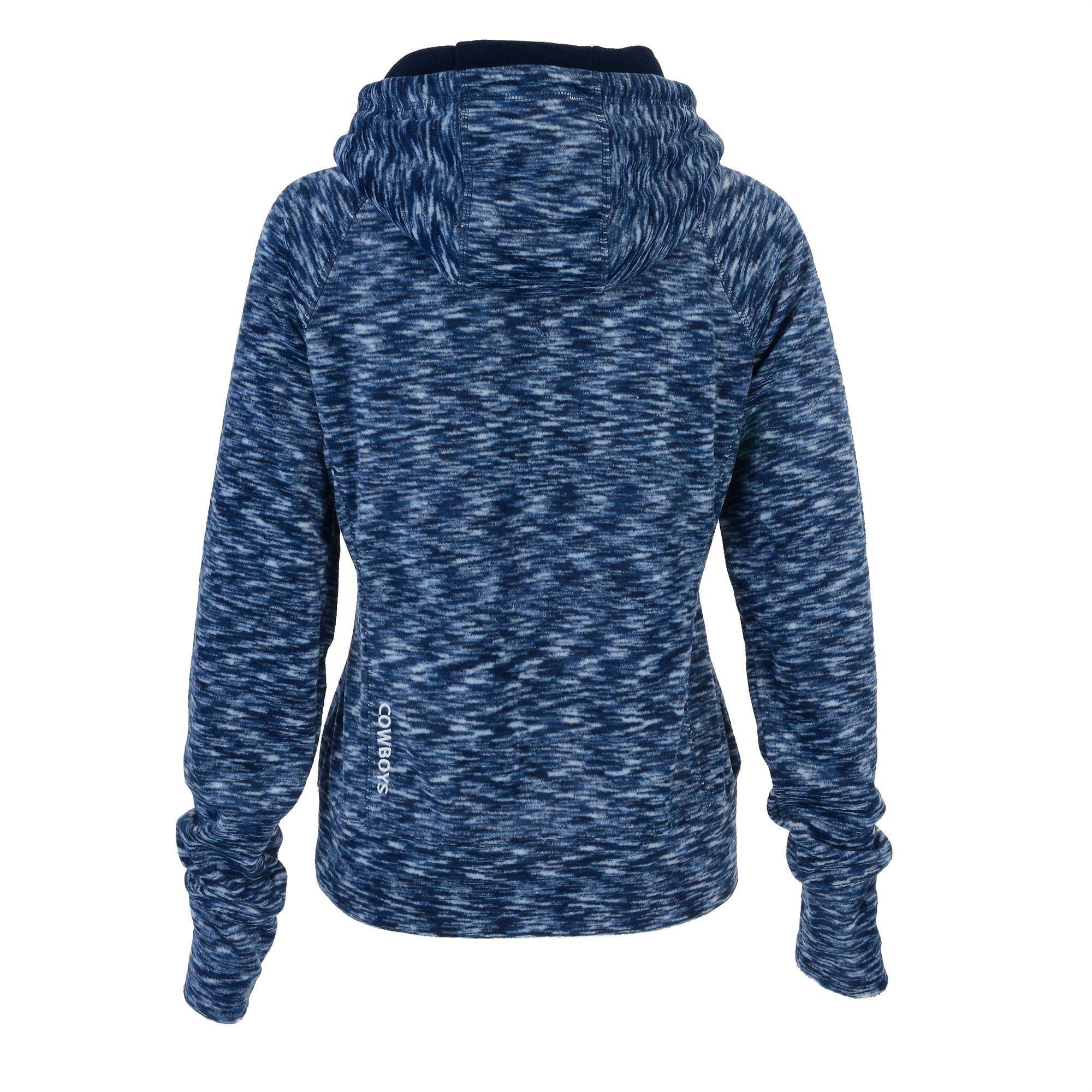 Dallas Cowboys Women's Navy Bluewag Space Dye Fleece Full-Zip Jacket by NFL