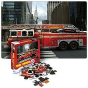 Fire Truck Floor Puzzle - 24 Pieces