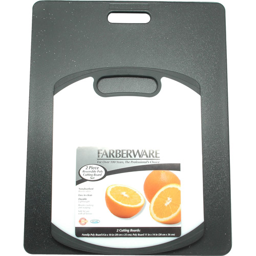 Farberware 2-Piece Poly-Granite Non-Slip Cutting Board Set