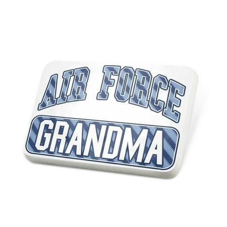 Porcelein Pin Air Force Grandma, Blue stripes Lapel Badge – - Grandma To Be Pin