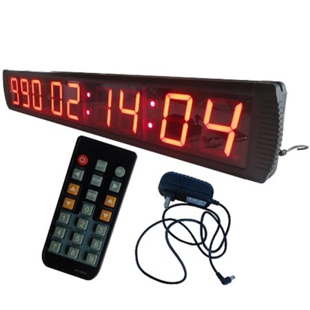 DLC IN9T4R 4 in. 9 Digits Days LED Countdown & Up Clock, Red for $<!---->