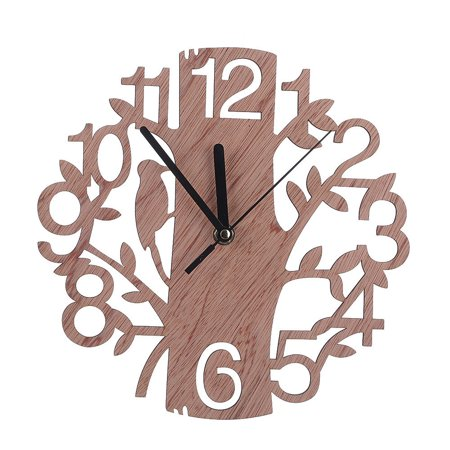 Modern Wooden Tree Wall Clock 3D fashion DIY Watches Living Room Home Office Decor Gift
