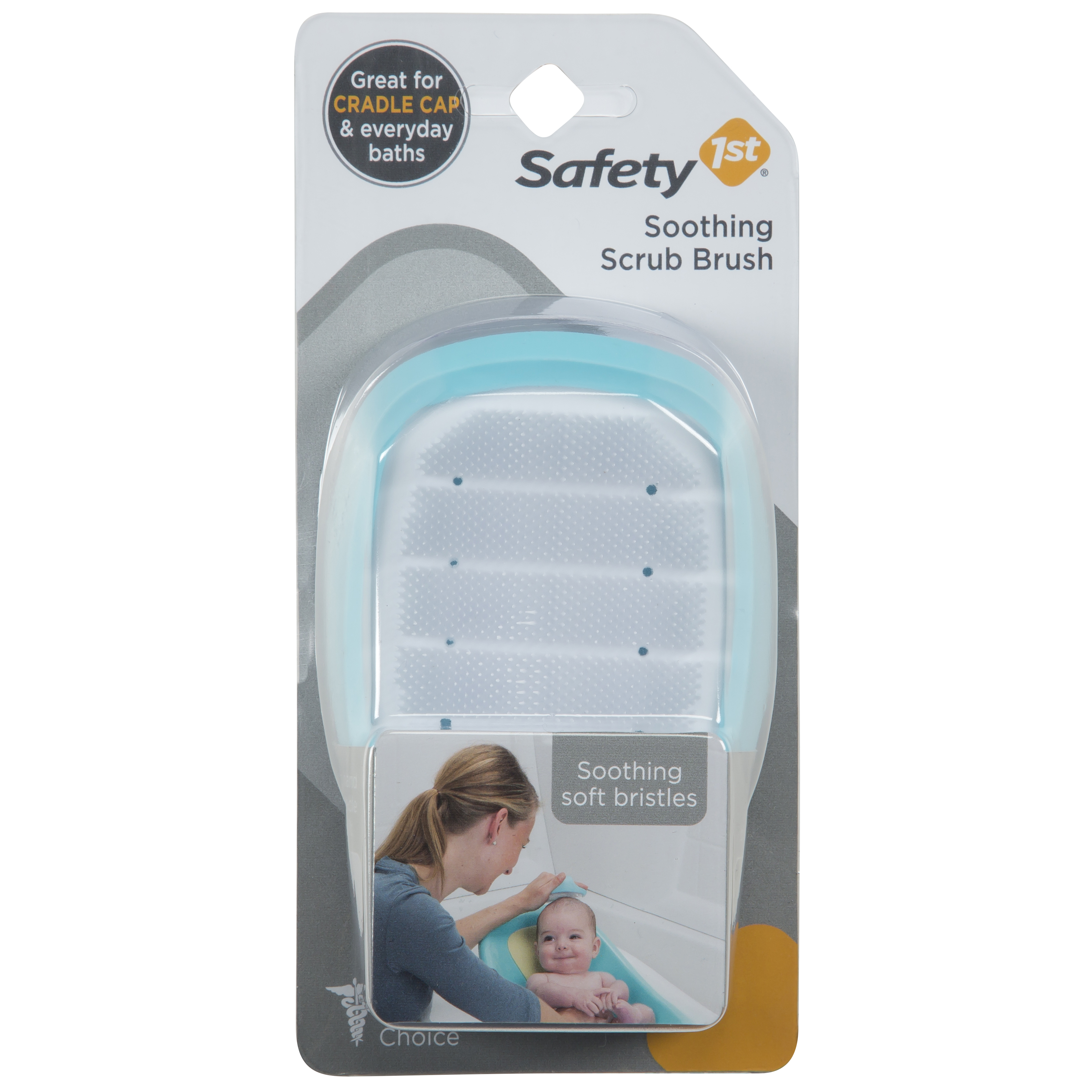 Safety 1st Soothing Cradle Cap Soft Bristle Brush, Arctic