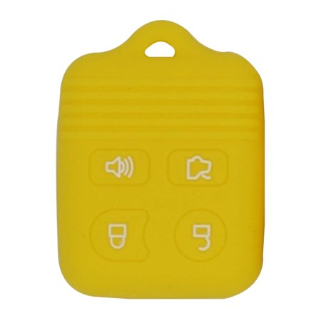 Soft Silicone 4 Button Car Remote Key Fob Cover Case Protector for Ford -  Yellow