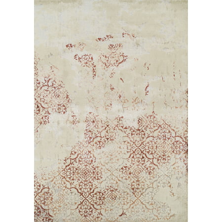 Berkley Fragments Area Rugs - LV501 Contemporary Paprika Curces Swirls Arches Ogee Rug