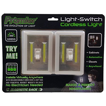 Promier 6398587 Products TV207805 COB LED Switch Light, 2 Piece