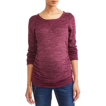 21b3a31e3c8e Planet Motherhood - Maternity Long Sleeve Hatchi Side Cinched Top ...