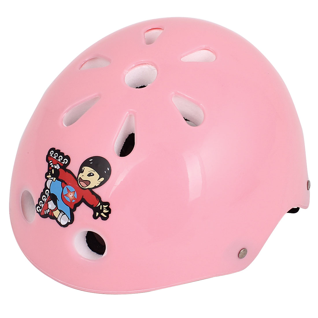 Unique Bargains Kids Skateboard Skiing Racing Bicycle Bike Sports Helmet Pink White by